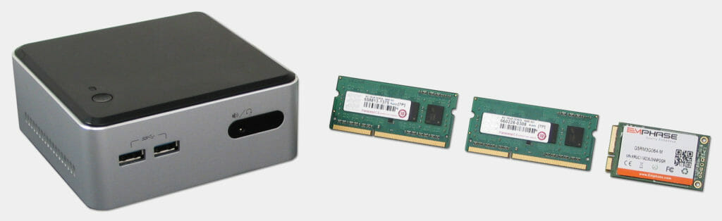 Intel NUC with Transcend Memory and Emphase Solid State Hard Drive