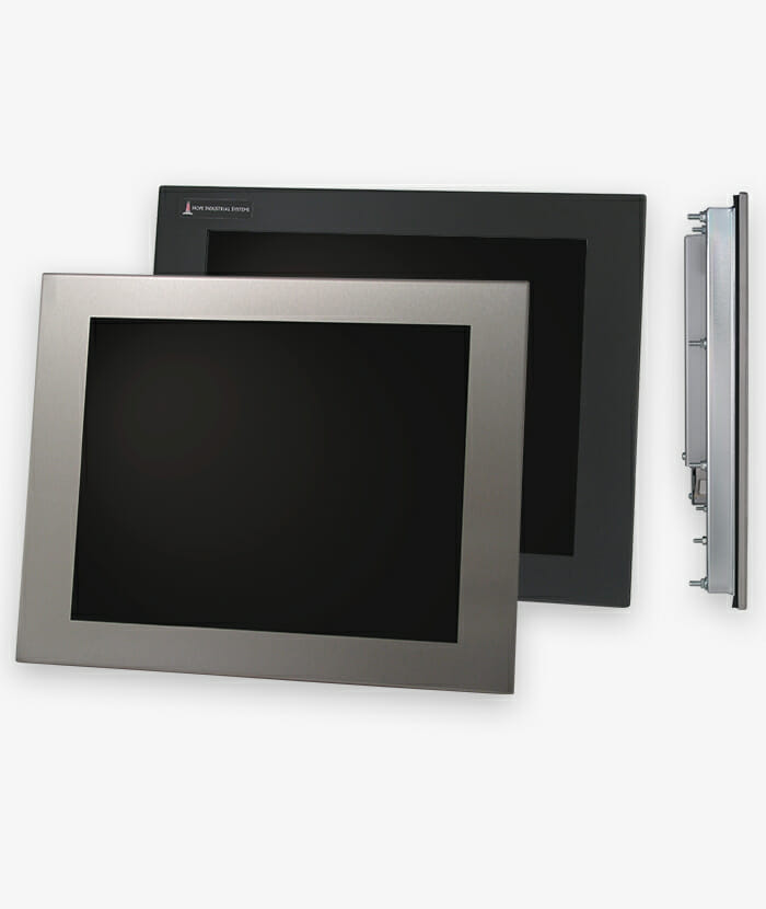 "17"" Panel Mount Industrial Monitors and IP65/IP66 Rugged Touch Screens, story"