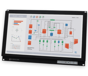 "19.5"" Widescreen Rack Mount Industrial Monitors and IP20 Rugged Touch Screens"